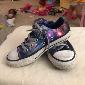 Galaxy converse kids size 12
